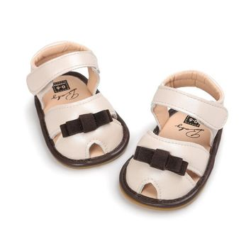 Summer  baby CoolPU leather sandals  Skidproof Baby Girls Butterfly Sandals  Toddlers Children Kids Shoes Girls  for 0-18M