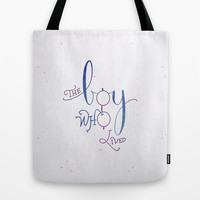 "Harry Potter ""The boy who lived"" Tote Bag by Earthlightened"