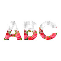 Allyson Johnson Bold Floral And Dots Decorative Letters