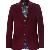 Gucci - Burgundy Slim-Fit Corduroy Blazer | MR PORTER