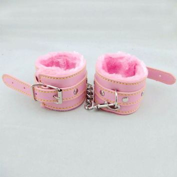 ac ESBB5Q Hot Deal Hot Sale On Sale Leather Pink Toy Handcuffs [6628160003]
