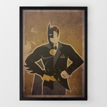 Bat Wayne Print by Danny Haas at Firebox.com