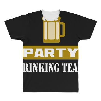 bachelor party drinking team wedding groomsmen bridal funny All Over Men's T-shirt