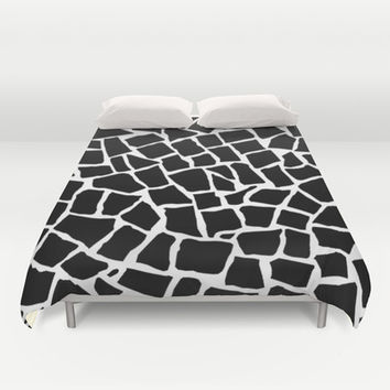 Mosaic Zoom Black and White Duvet Cover by Project M | Society6