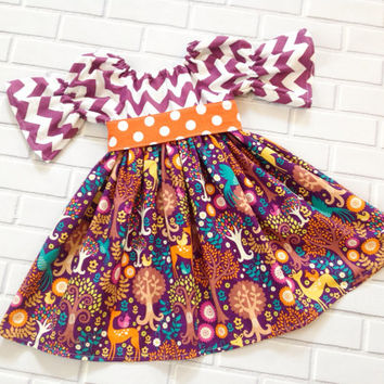Fall Thanksgiving Dress Baby Toddler Halloween Thanksgiving Girls Boutique Clothing By Lucky Lizzy's