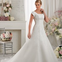 Bonny Bliss 2416 Modest Lace Wedding Dress