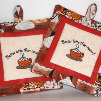 Coffee Theme Pot Holders