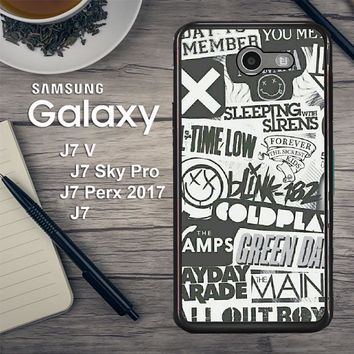 Rock Bands Tumblr Collage L1478 Samsung Galaxy J7 V , J7 Sky Pro, J7 Perx 2017 SM J727 Case