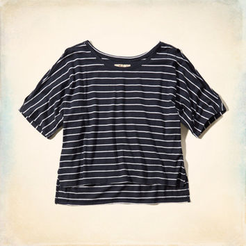 Cold-Shoulder Boxy Tee