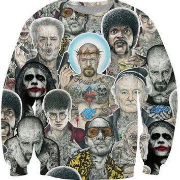Women Men Breaking Bad Inked Ikon Collage Tattoo Outerwear Harajuku 3d print Clothes Sport Sweatshirts