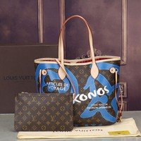 LV Women Shopping Leather Handbag Tote Satchel Shoulder Bag H-MYJSY-BB