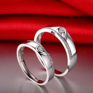 18ct Gold 0.33ct Diamond Couple Set Rings Wedding Bands Engagement Rings for Men Women Free DHL Shipping
