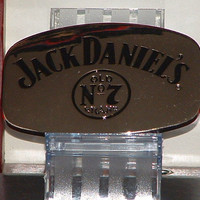 New Jack Daniels Silver & Black No 7 Belt Buckle