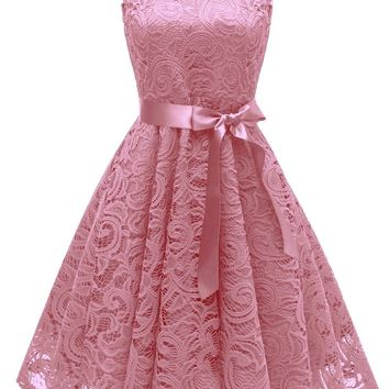 Chicloth Rockabilly Ball Gown Flared Dress Women's 1940s Vintage