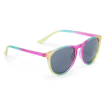 PS from Aero  Kids' Ombre Glitter Round Sunglasses