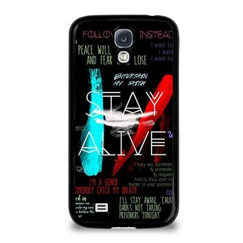 twenty one pilots stay alive samsung galaxy s4 case cover  number 1