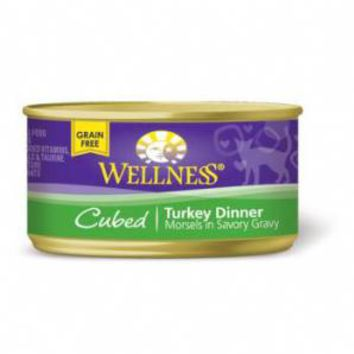 Wellness Cubed Turkey Dinner Cat Food 3 ounce