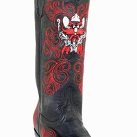 Gameday Texas Tech Ladies Leather Boots - Black