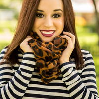 Large Print Leopard Infinity Scarf
