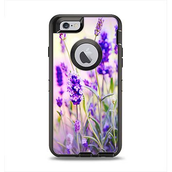 The Lavender Flower Bed Apple iPhone 6 Otterbox Defender Case Skin Set