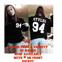 Styles 94 Horan 93 Hemmings 96 crew neck or hoodie sweatshirt with front pocket design  ! adult and youth Size