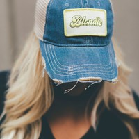 Denim Blondie Baseball Hat