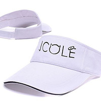 DEBANG J.Cole Born Sinner Crown Only Logo Adjustable Visor Cap Embroidery Sun Hat Sports Visors - White