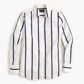 J.Crew Womens Boy Shirt In Bold Stripe
