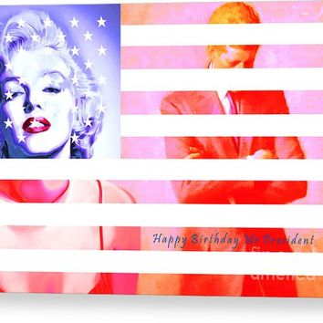Marilyn Monroe Happy Birthday Mr President 20160105 Canvas Print