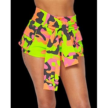 Neon Army Camouflage Shorts