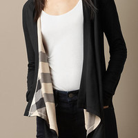 Reversible Waterfall Jersey Cardigan