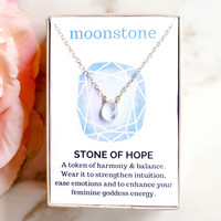Moonstone Healing Jewel Necklace