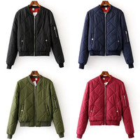 Winter Patchwork 6-color Cotton Jacket [6332316612]
