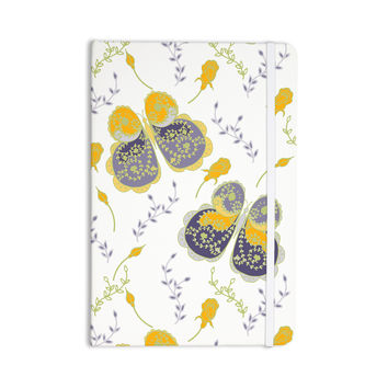 "Anneline Sophia ""Leafy Butterflies Yellow"" Purple Butterfly Everything Notebook"