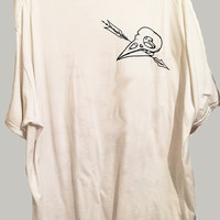 bird skull arrow David Hazlewood design tshirt