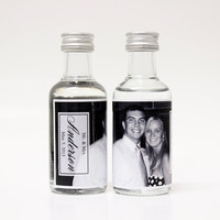 100 Custom Absolut Vodka Mini Bottle Labels Wedding Favors Photo Thank You Reception Party Celebration Bridal Shower Rehearsal Big Day Gifts