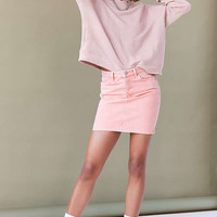 BDG Girlfriend Denim Mini Skirt - Pink Acid Wash - Urban Outfitters