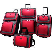 4 Piece Carry-On Travel Wheeled Rolling Suitcase Luggage Baggage Set