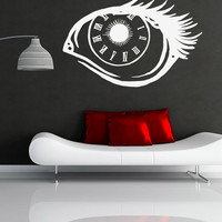 Vinyl Wall Decal Sticker Eye Clock #OS_MB696