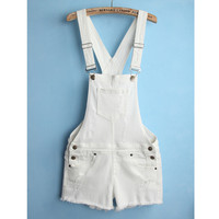 Summer Boyfriend Slim Denim Shorts Romper [6332306884]