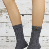 Wool sock WOMEN SOCKS Ankle Socks, button Socks,Girls Socks,Boots Socks,ladies socks,women's socks- Sock
