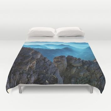 Mountains Breathe Too Duvet Cover by Mixed Imagery