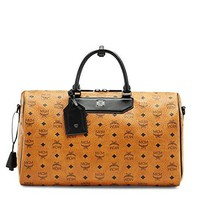 2016 MCM Authentic NOMAD WEEKENDER Bag - Cognac(MUV6SHE12CO)
