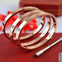 Free shipping/Cartier bracelet with a screwdriver to inspire love / / to provide the highest quality of silver, rose gold