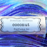 COCONUT Perfume Oil - Tropical Coconuts Sexy Exotic Beach Scent