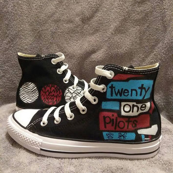 Twenty-One Pilots custom Converse