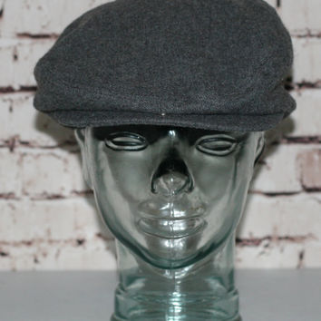 60s Newsboy Hat Mens Grey Messenger Cap Groom Wedding Best Man Rockbilly  Mod Hipster 40s 50s 9cfba0ecb0b