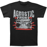 Agnostic Front Men's  Ghetto Blaster T-shirt Black