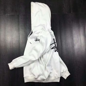 Stussy Casual Fashion Sport Monogram Print Long Sleeve Hooded Sweater G-A-GHSY-1-1