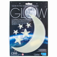 Glow In The Dark Moon & Stars Glow In The Dark One Size For Men 24168895401
